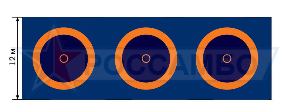 Борцовские ковры для Чемпионата России по борьбе на поясах г. Черкесск, июнь 2017 г. от РОССАМБО