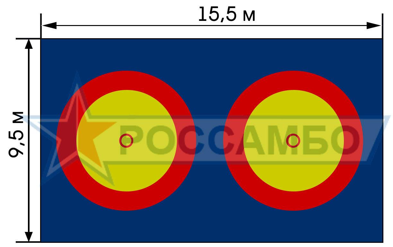 Нестандартное покрытие для самбо от РОССАМБО.