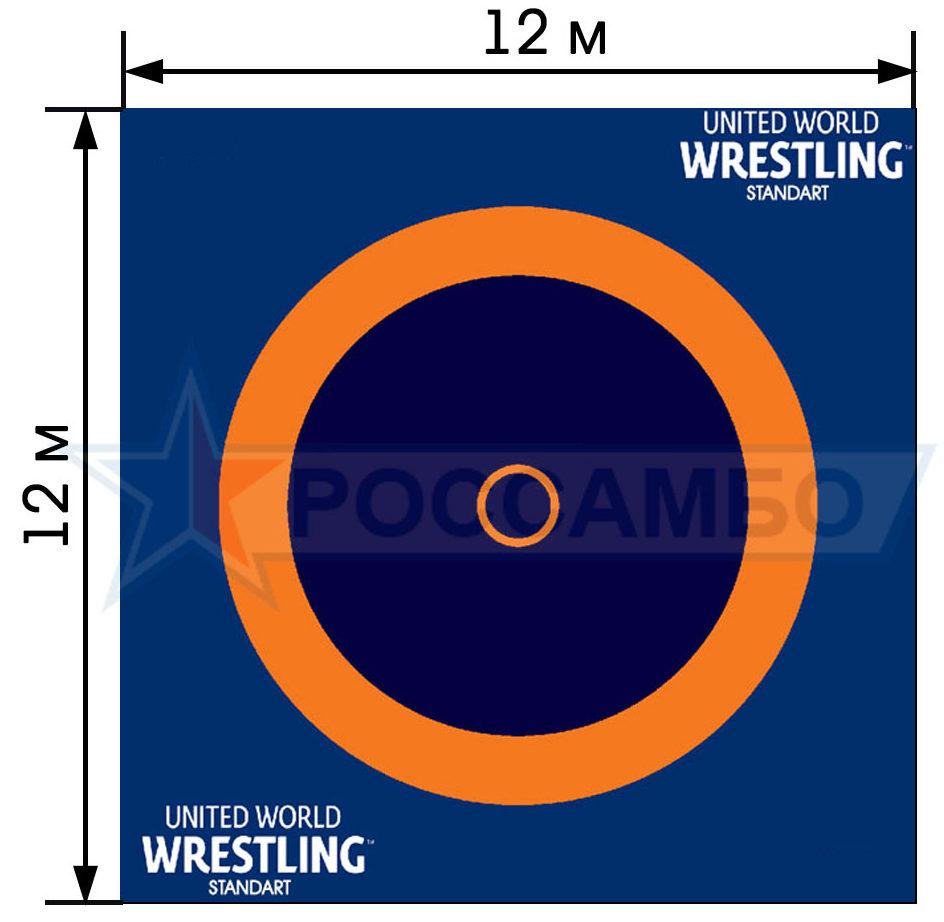 Борцовский ковер по стандарту UWW, 12х12м от РОССАМБО