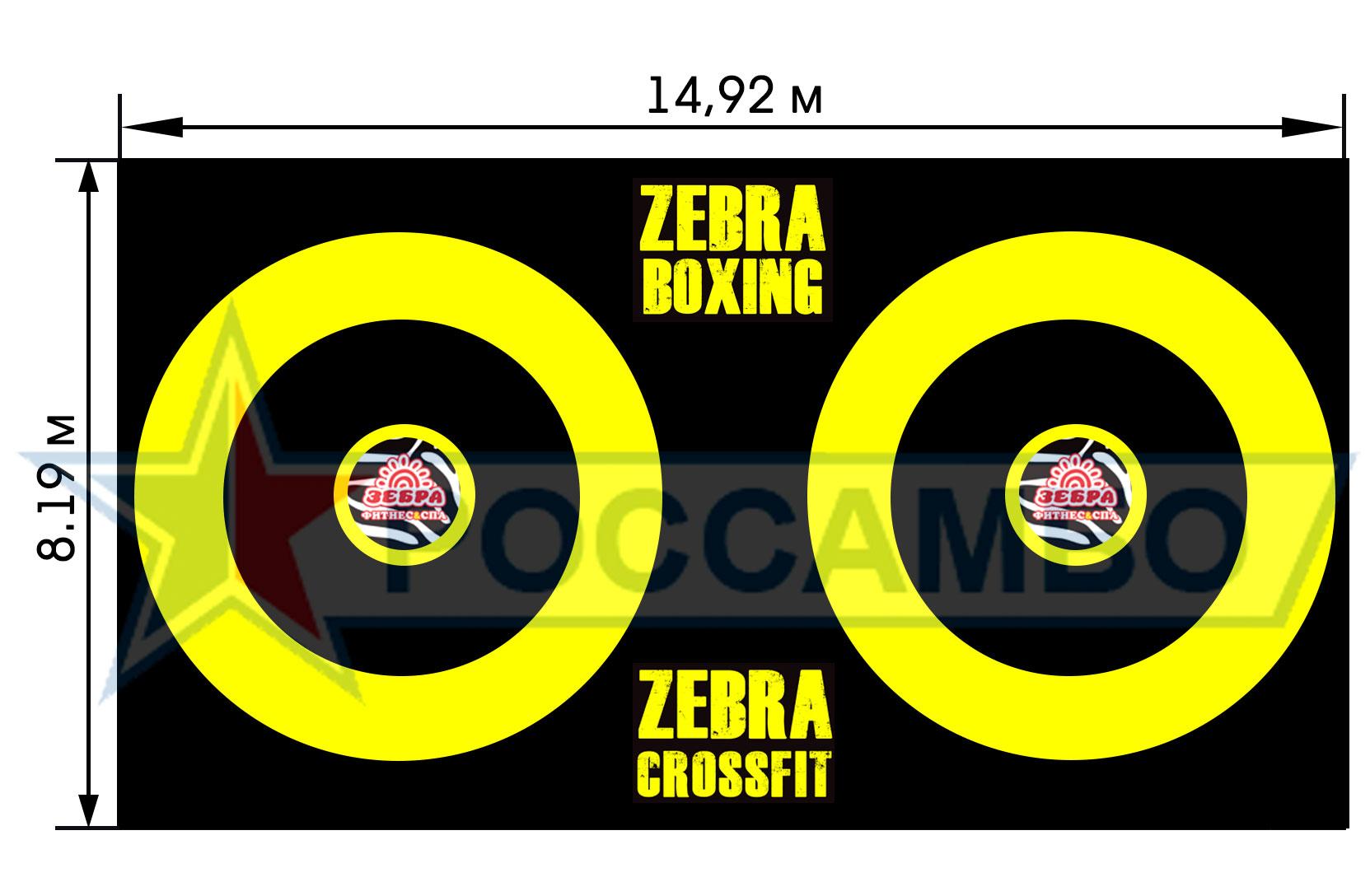 Нестандартный борцовский ковер для борьбы, ММА и единоборств в фитнесс-центр от РОССАМБО
