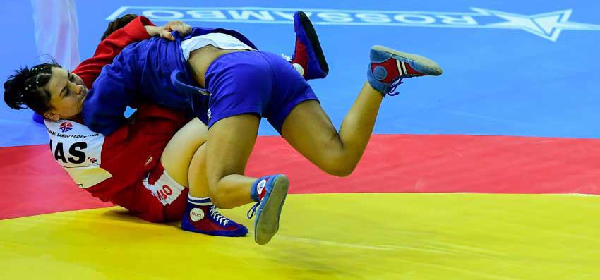 Борцовские ковры от РОССАМБО на Чемпионате мира по самбо 2017 в Сочи
