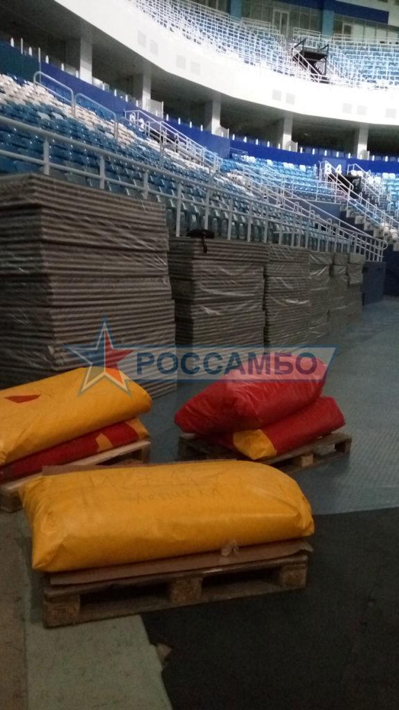 Доставка борцовских ковров от РОССАМБО на Чемпионат мира по самбо 2017
