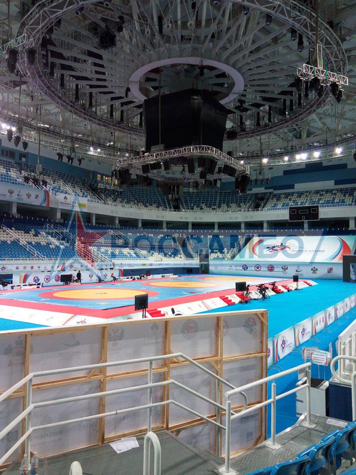 Готовая соревновательная арена для Чемпионата мира по самбо 2017