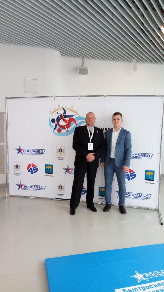 С вице-президентом федерации самбо Ульяновской области Забалдуевым Виктором Ивановичем встретились у нашего стенда на Чемпионате Мира по самбо в Сочи.