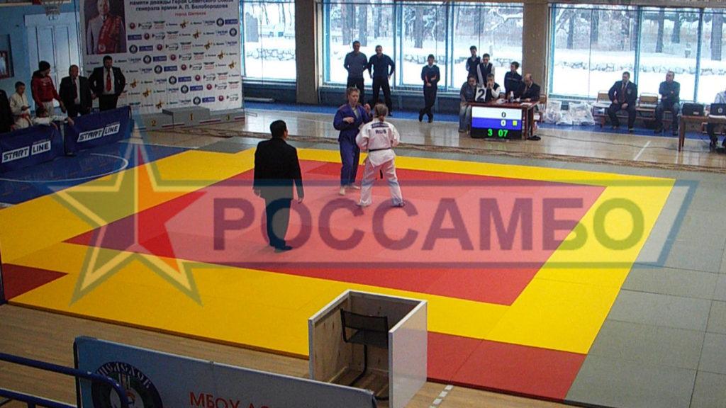 Соревновательное татами для федерации дзюдо от РОССАМБО